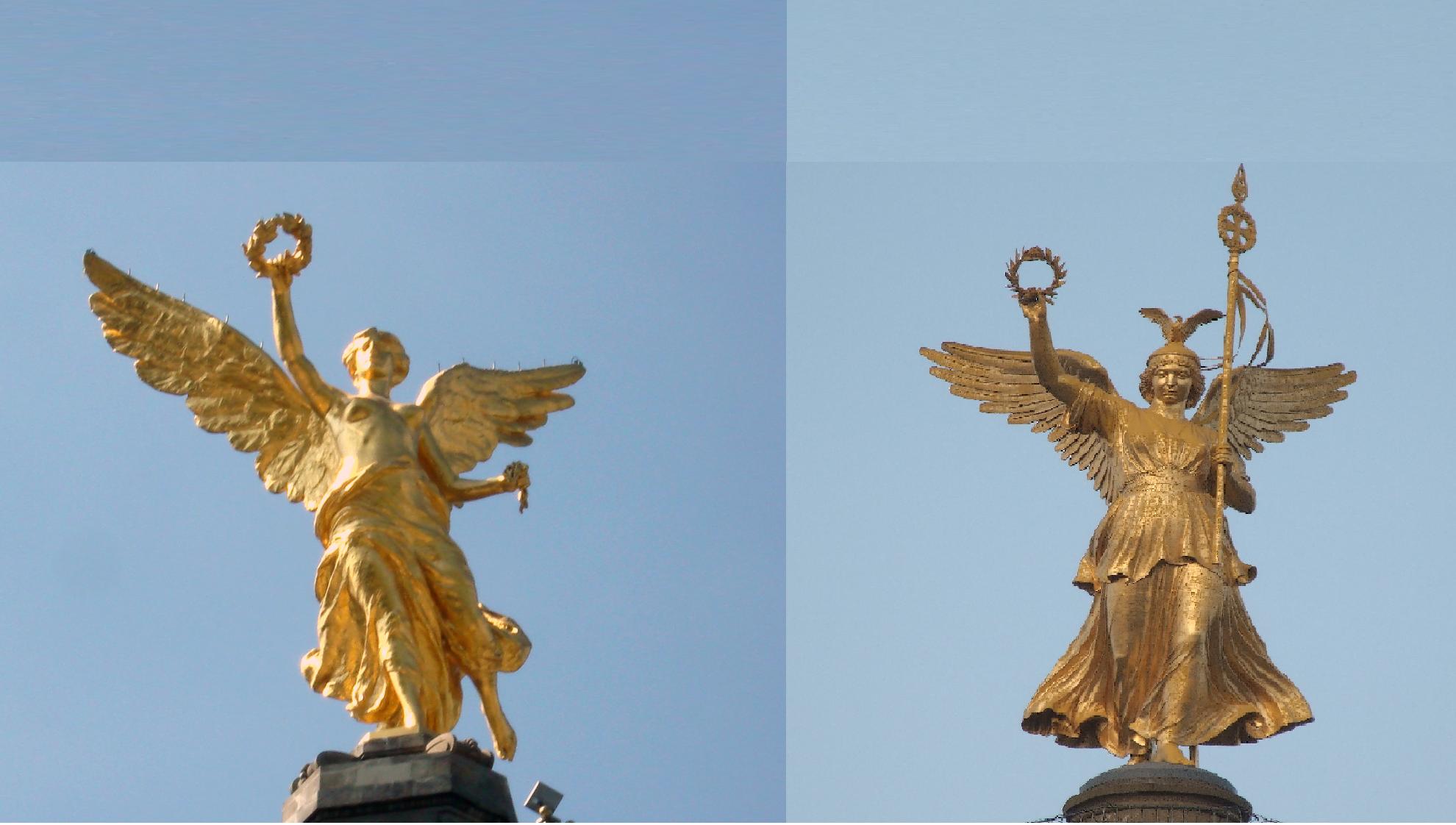el ángel de la independencia en CDMX y el ángel de Berlin / der Engel der Unabhängigkeit in Mexiko-Stadt und die Goldelse